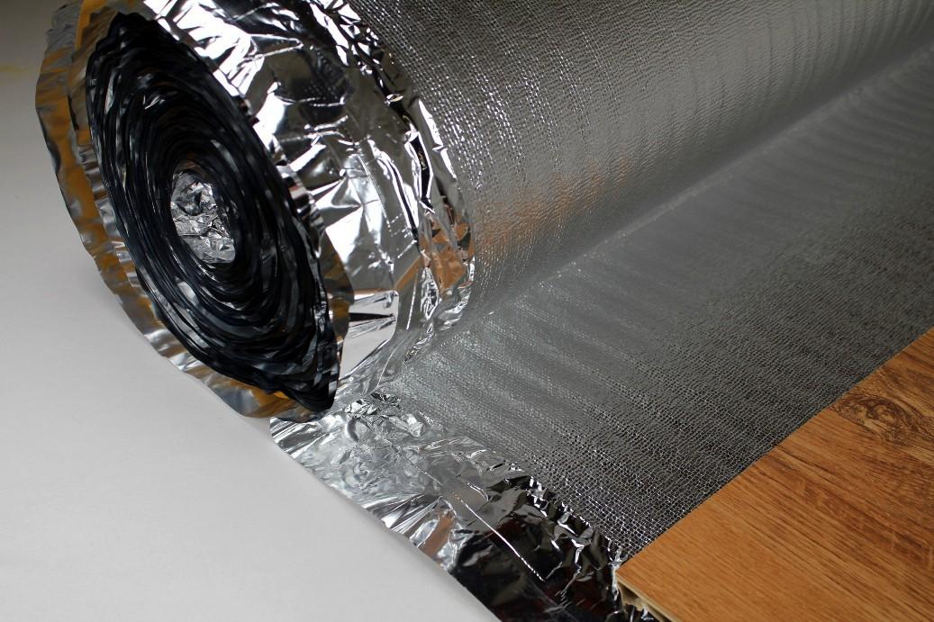 50 m2 trittschalld mmung alu dampfsperre f r laminat parkett silver plus 2 mm sparpakete. Black Bedroom Furniture Sets. Home Design Ideas