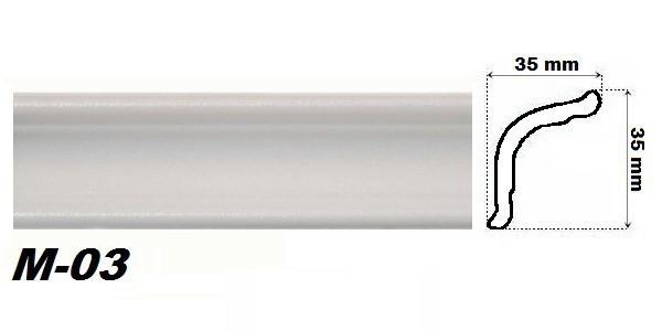 2 meter styropor stuckprofil eckprofil stuckleiste leiste profil 35x35mm m3 14 dekore aus. Black Bedroom Furniture Sets. Home Design Ideas