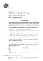 GS1 Zertifikat